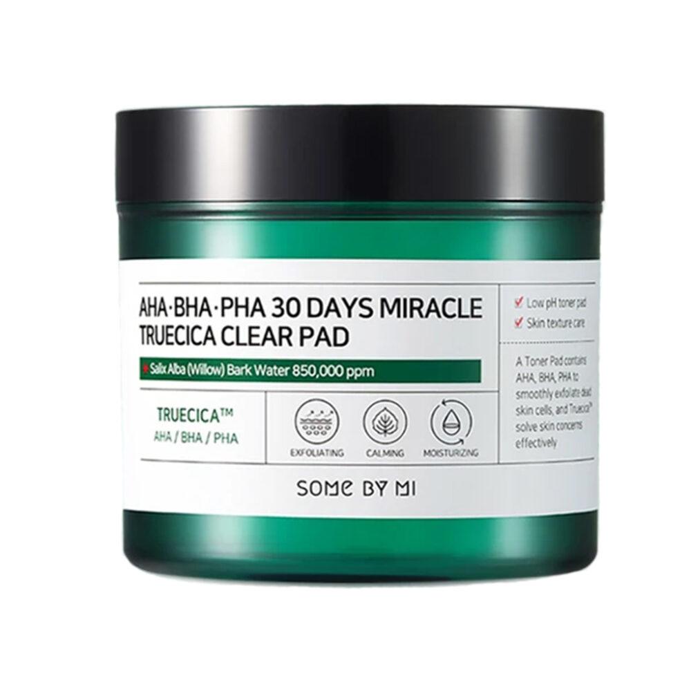Some By Mi Пэды для проблемной кожи кислотные / 30 Days miracle truecica clear pad